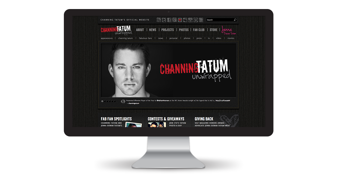 Channing Tatum Unwrapped Website: Home