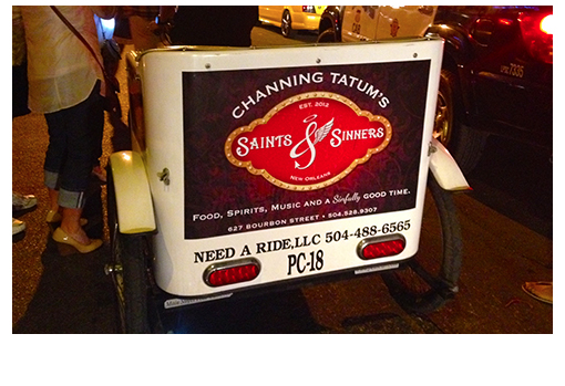 Saints & Sinners: Pedicab Advertising