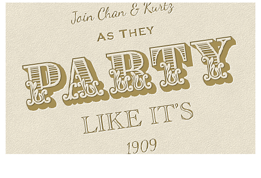 Saints & Sinners: Invitations Design (Print and eVite)