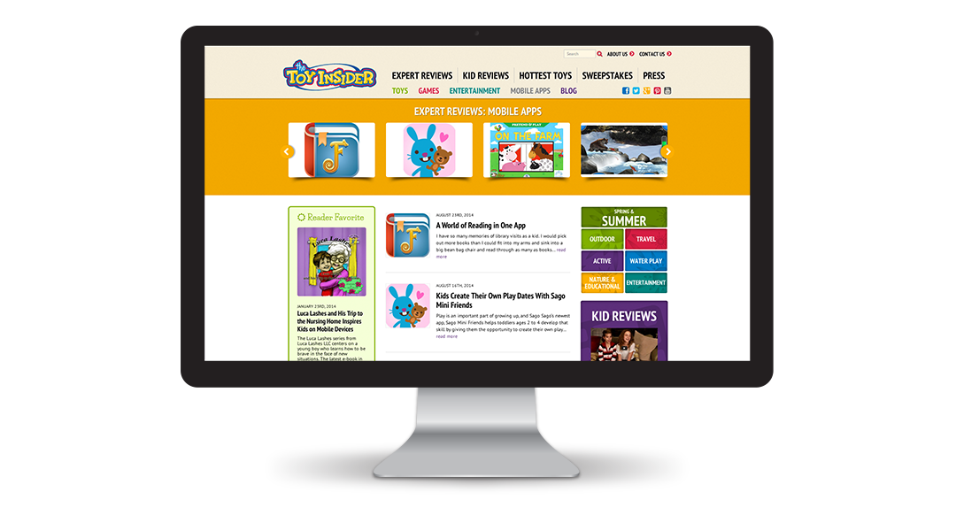 The Toy Insider Website: Expert Reviews